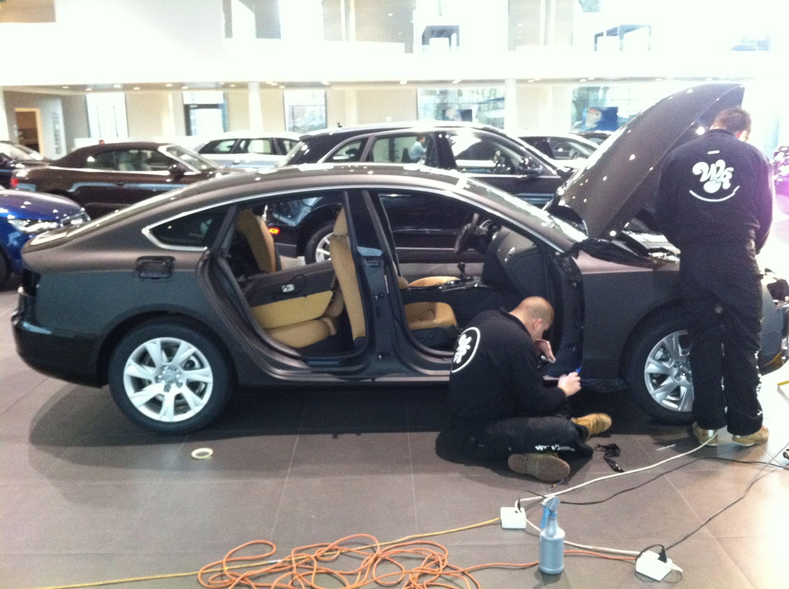 Audi A5 Sportback met Mat Grijze Wrap, Carwrapping door Wrapmyride.nu Foto-nr:4762, ©2021