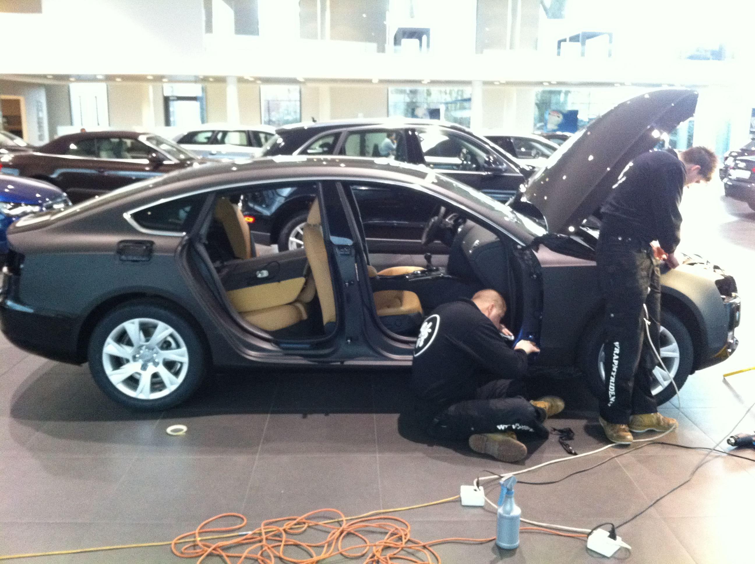 Audi A5 Sportback met Mat Grijze Wrap, Carwrapping door Wrapmyride.nu Foto-nr:4763, ©2021