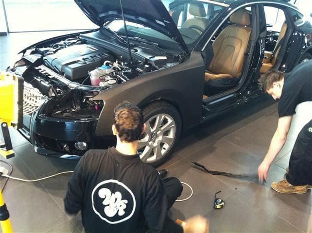 Audi A5 Sportback met Mat Grijze Wrap, Carwrapping door Wrapmyride.nu Foto-nr:4764, ©2021