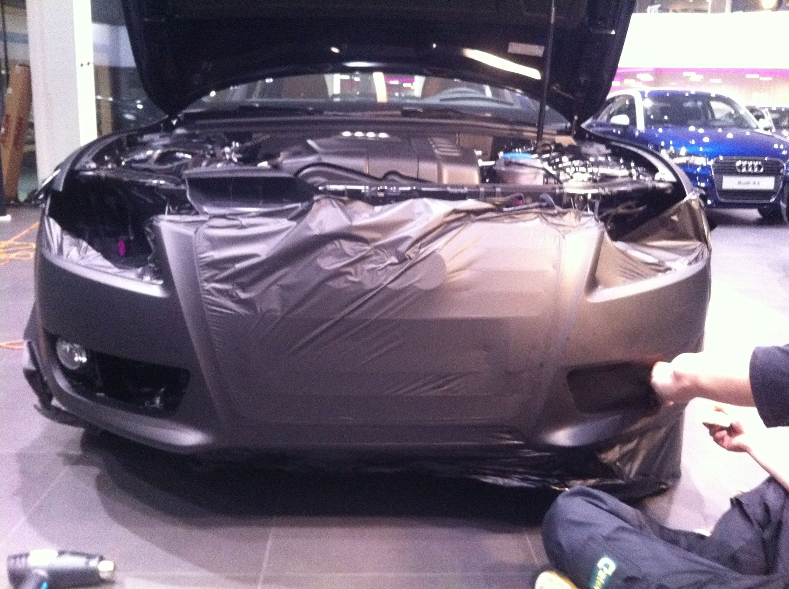 Audi A5 Sportback met Mat Grijze Wrap, Carwrapping door Wrapmyride.nu Foto-nr:4771, ©2021