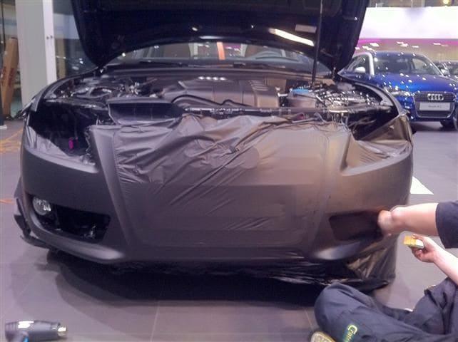 Audi A5 Sportback met Mat Grijze Wrap, Carwrapping door Wrapmyride.nu Foto-nr:4772, ©2021