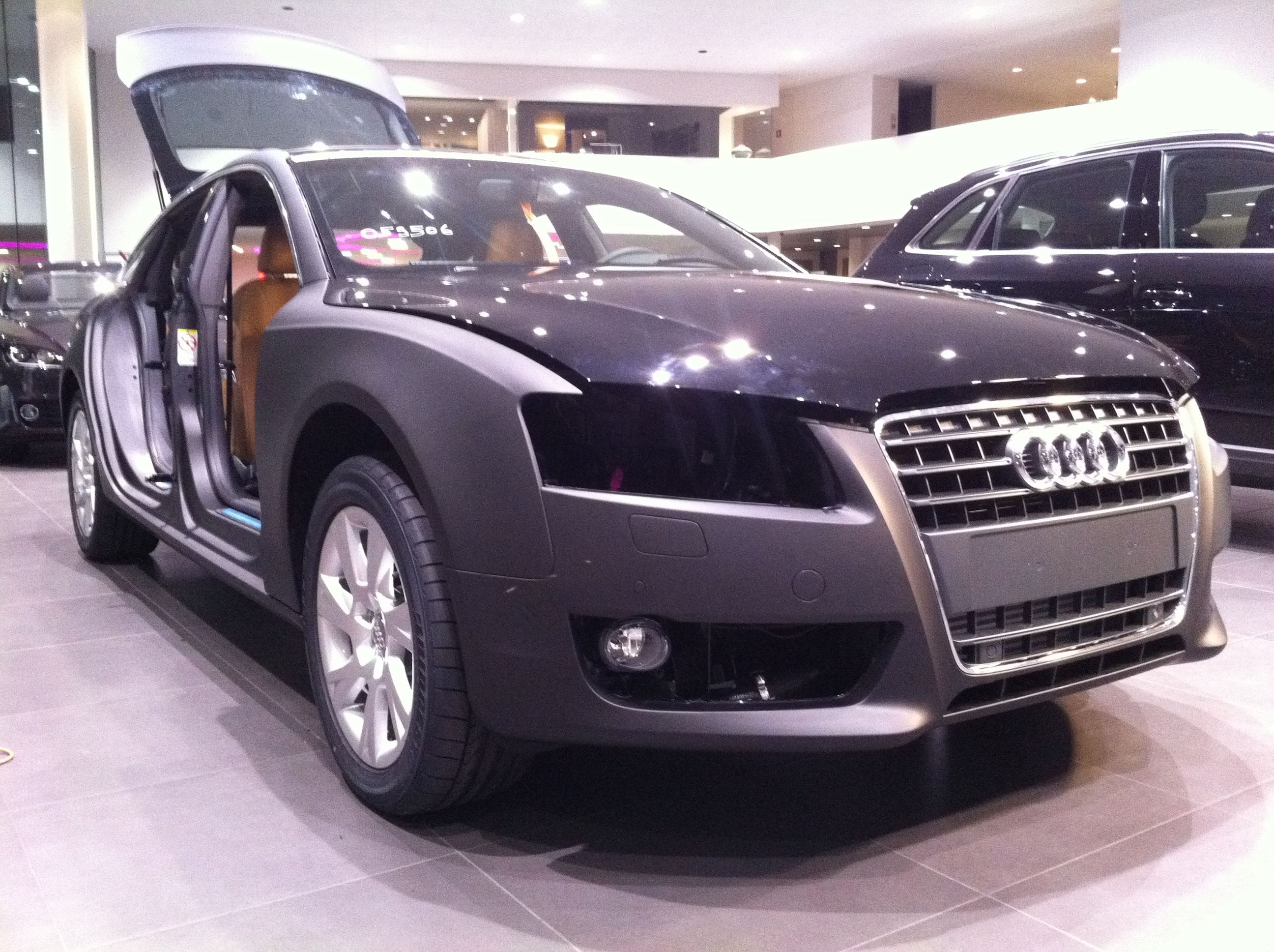 Audi A5 Sportback met Mat Grijze Wrap, Carwrapping door Wrapmyride.nu Foto-nr:4773, ©2021