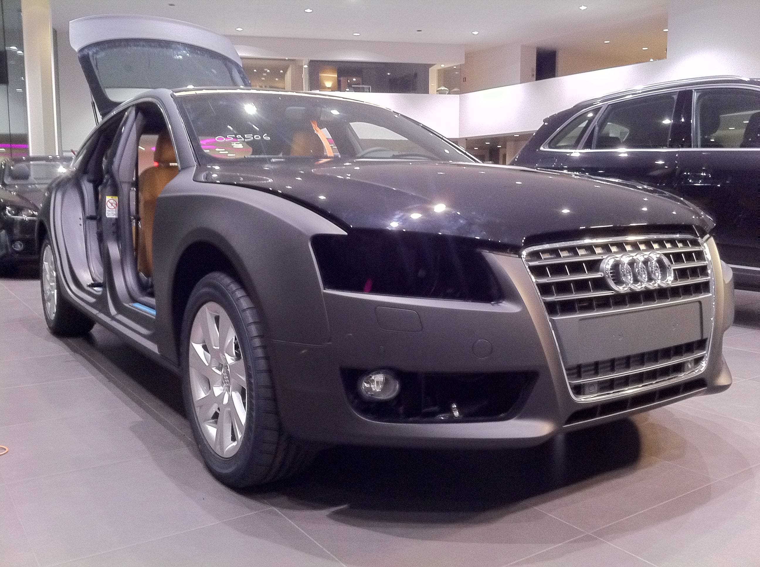 Audi A5 Sportback met Mat Grijze Wrap, Carwrapping door Wrapmyride.nu Foto-nr:4774, ©2021