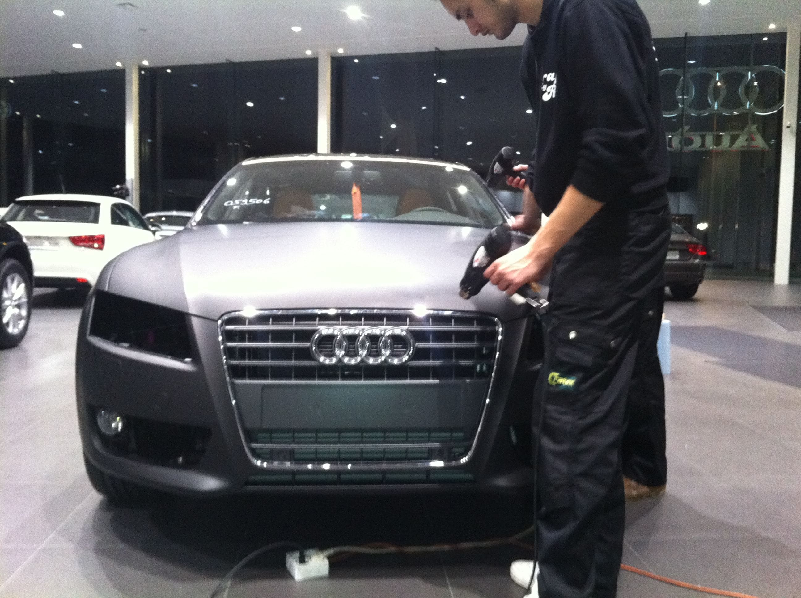 Audi A5 Sportback met Mat Grijze Wrap, Carwrapping door Wrapmyride.nu Foto-nr:4779, ©2021