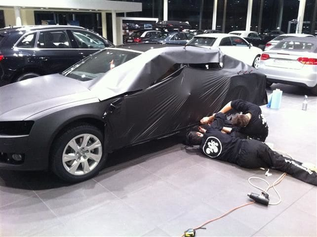 Audi A5 Sportback met Mat Grijze Wrap, Carwrapping door Wrapmyride.nu Foto-nr:4780, ©2021