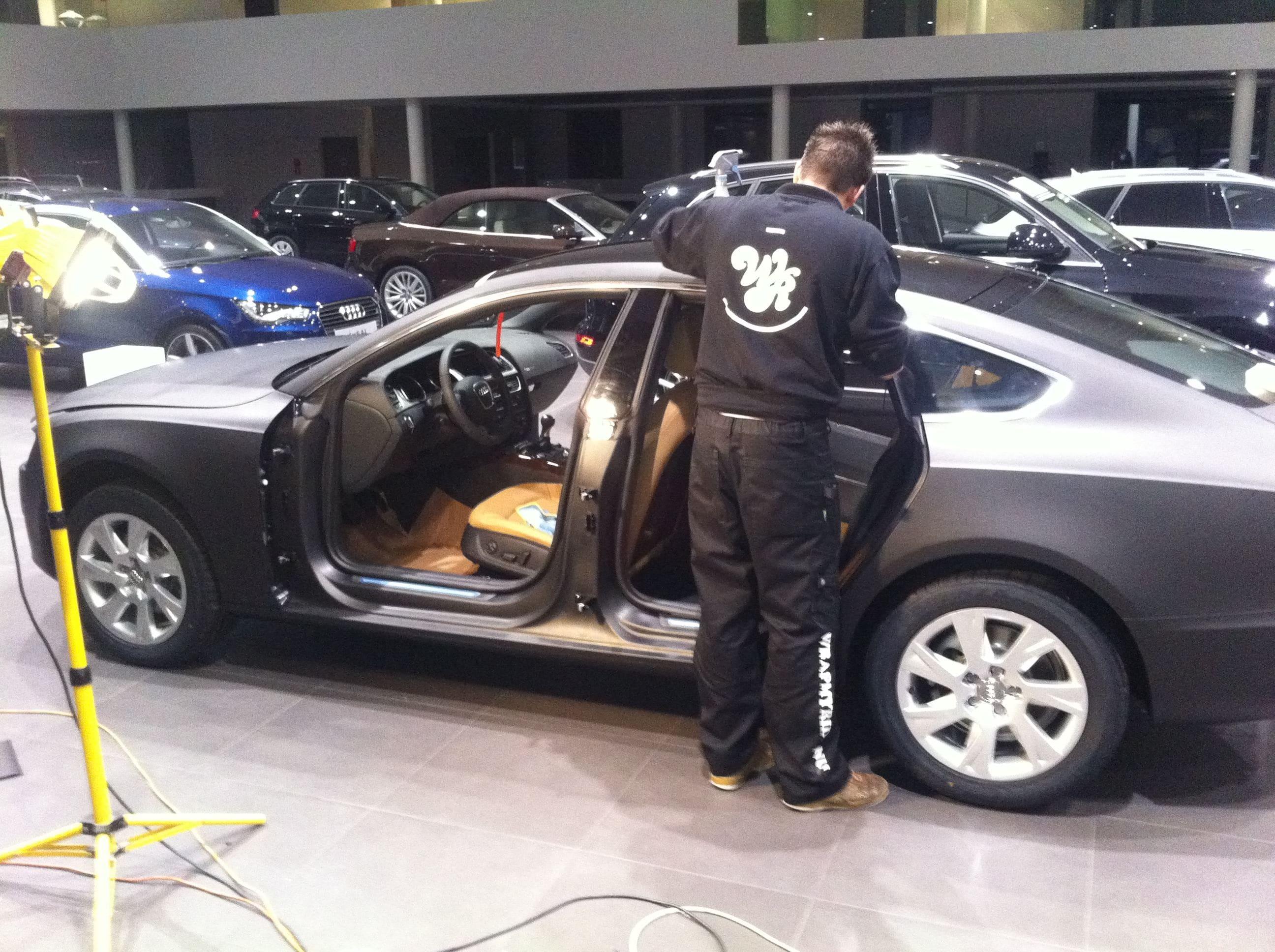 Audi A5 Sportback met Mat Grijze Wrap, Carwrapping door Wrapmyride.nu Foto-nr:4782, ©2021