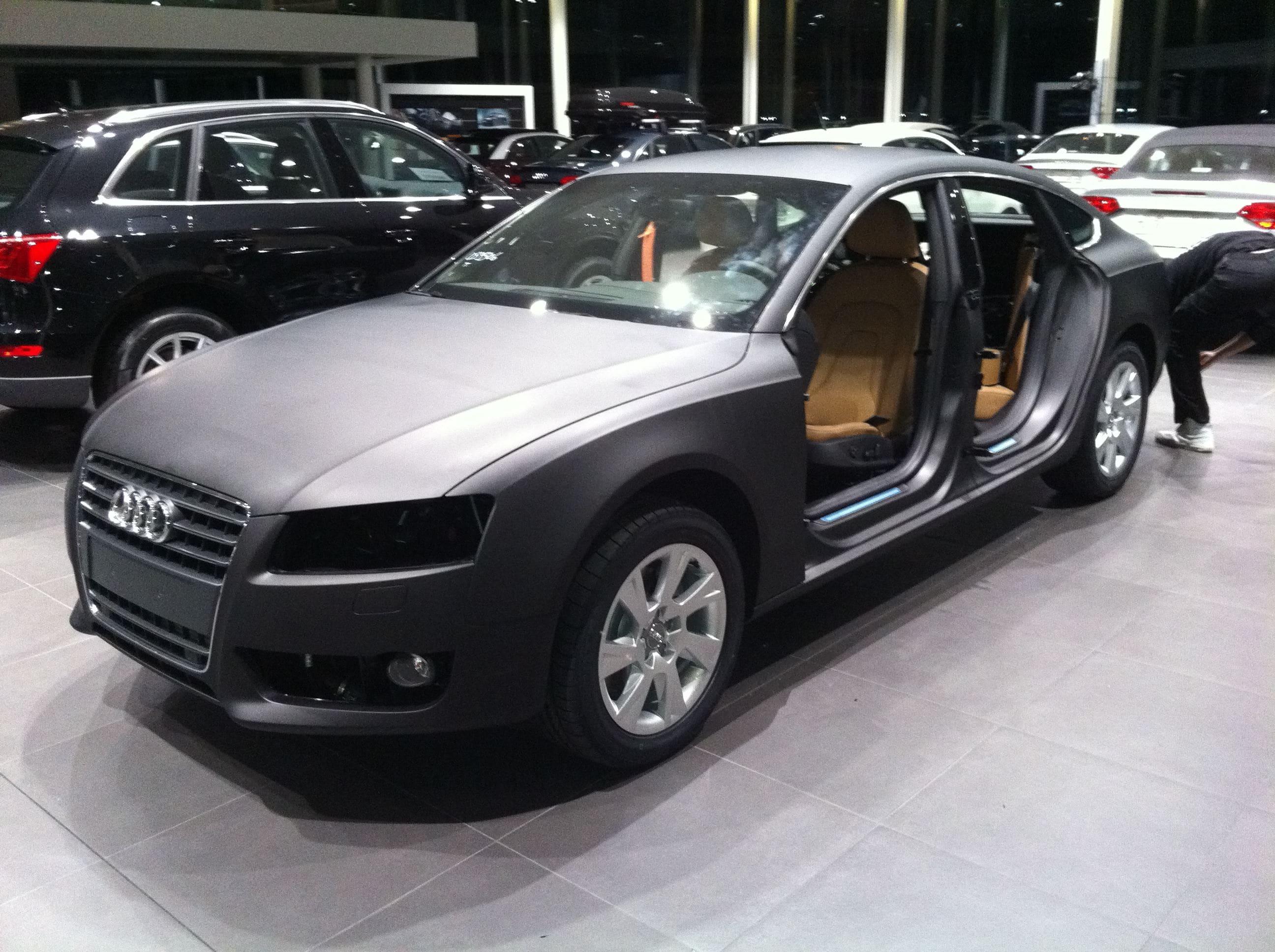 Audi A5 Sportback met Mat Grijze Wrap, Carwrapping door Wrapmyride.nu Foto-nr:4783, ©2021