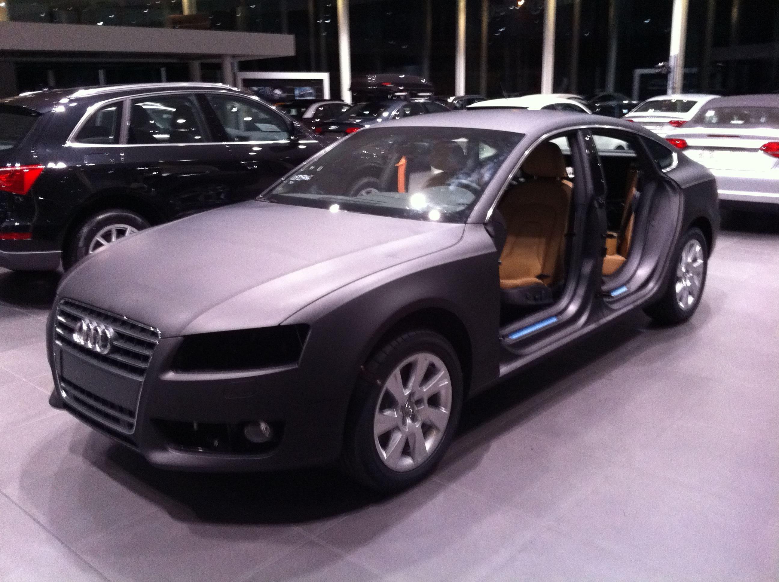 Audi A5 Sportback met Mat Grijze Wrap, Carwrapping door Wrapmyride.nu Foto-nr:4784, ©2021