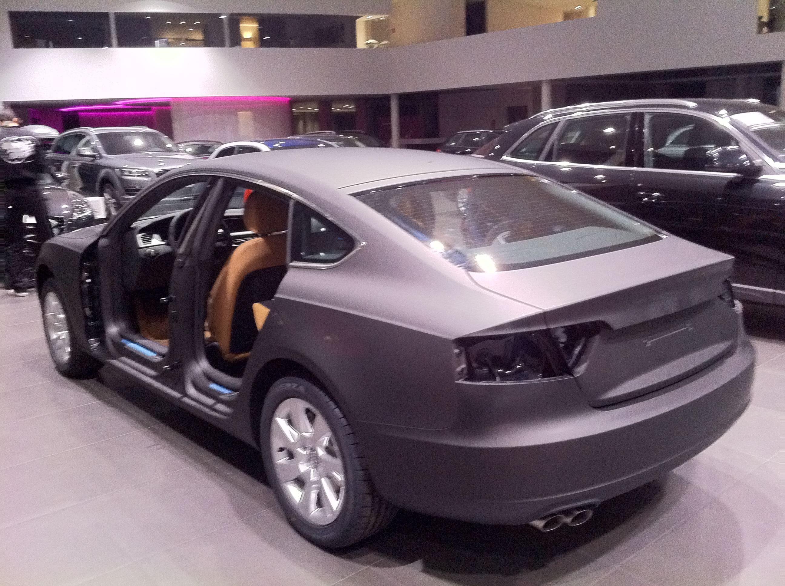 Audi A5 Sportback met Mat Grijze Wrap, Carwrapping door Wrapmyride.nu Foto-nr:4787, ©2021