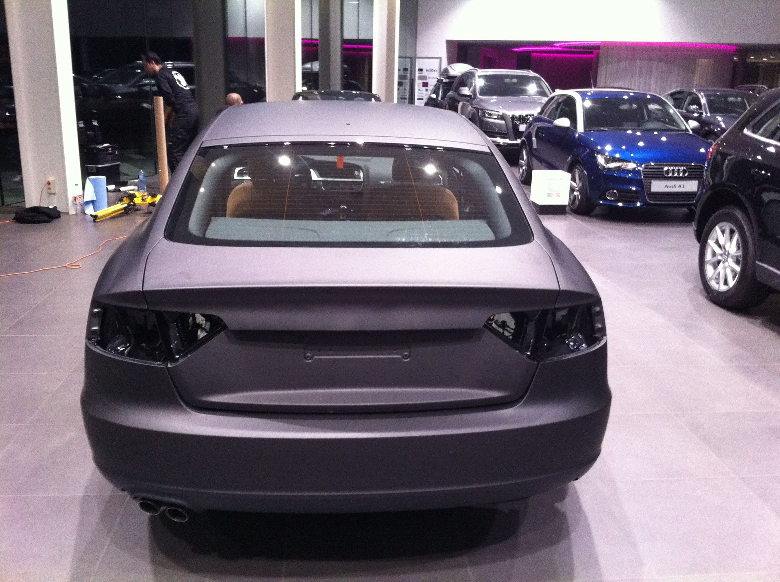 Audi A5 Sportback met Mat Grijze Wrap, Carwrapping door Wrapmyride.nu Foto-nr:4788, ©2021