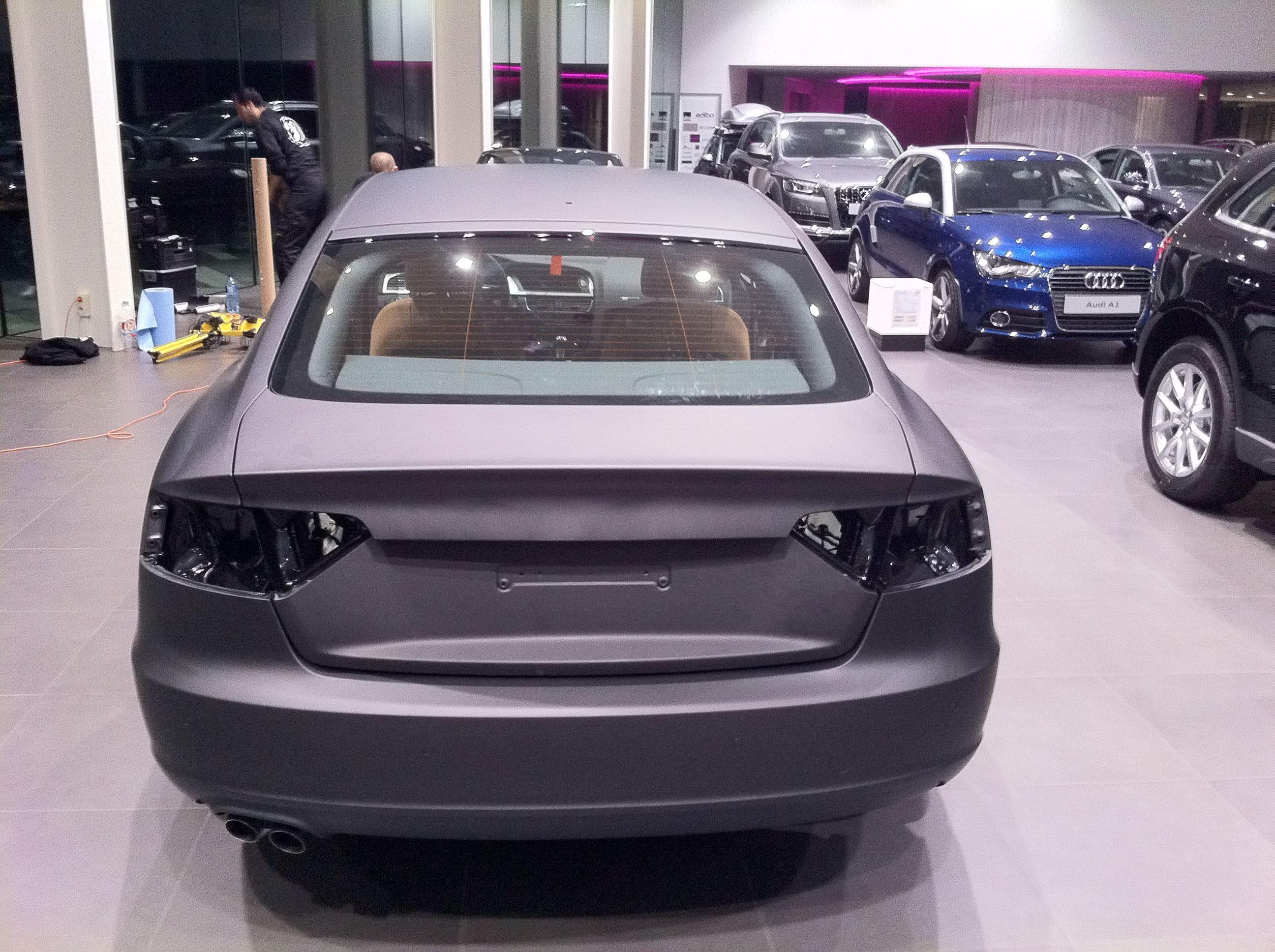 Audi A5 Sportback met Mat Grijze Wrap, Carwrapping door Wrapmyride.nu Foto-nr:4789, ©2021