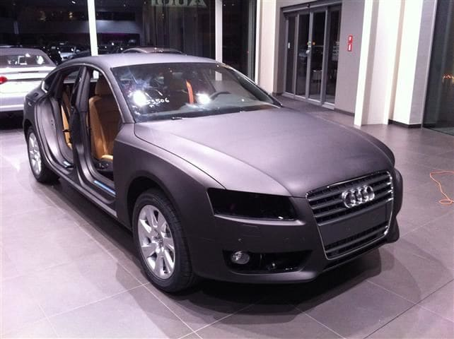 Audi A5 Sportback met Mat Grijze Wrap, Carwrapping door Wrapmyride.nu Foto-nr:4792, ©2021