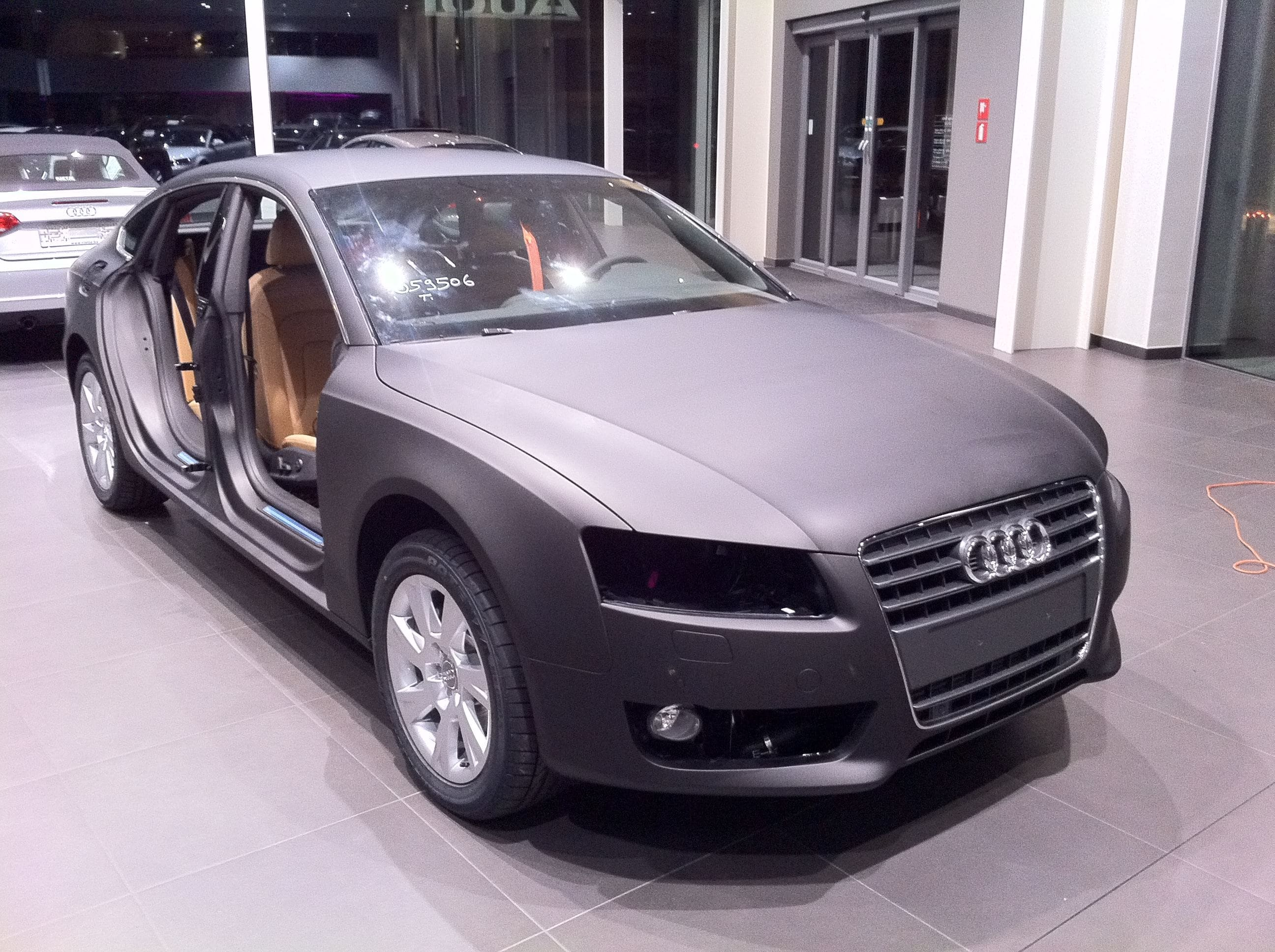 Audi A5 Sportback met Mat Grijze Wrap, Carwrapping door Wrapmyride.nu Foto-nr:4793, ©2021