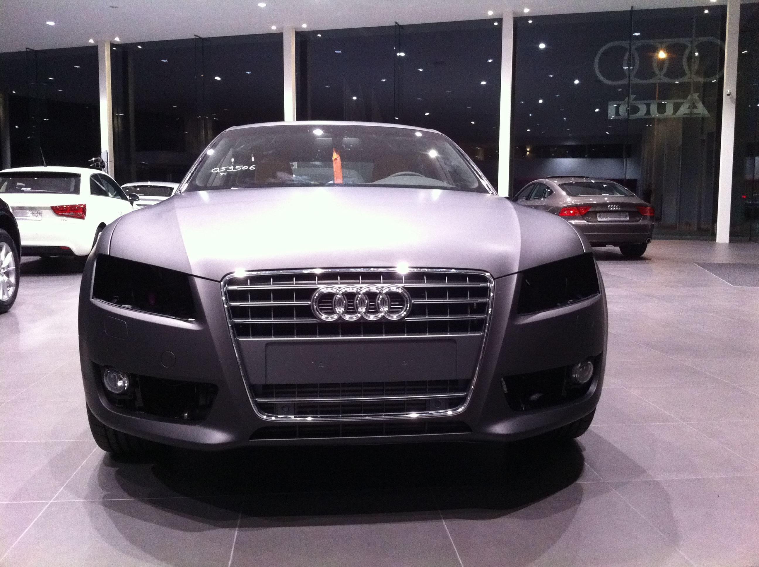 Audi A5 Sportback met Mat Grijze Wrap, Carwrapping door Wrapmyride.nu Foto-nr:4794, ©2021