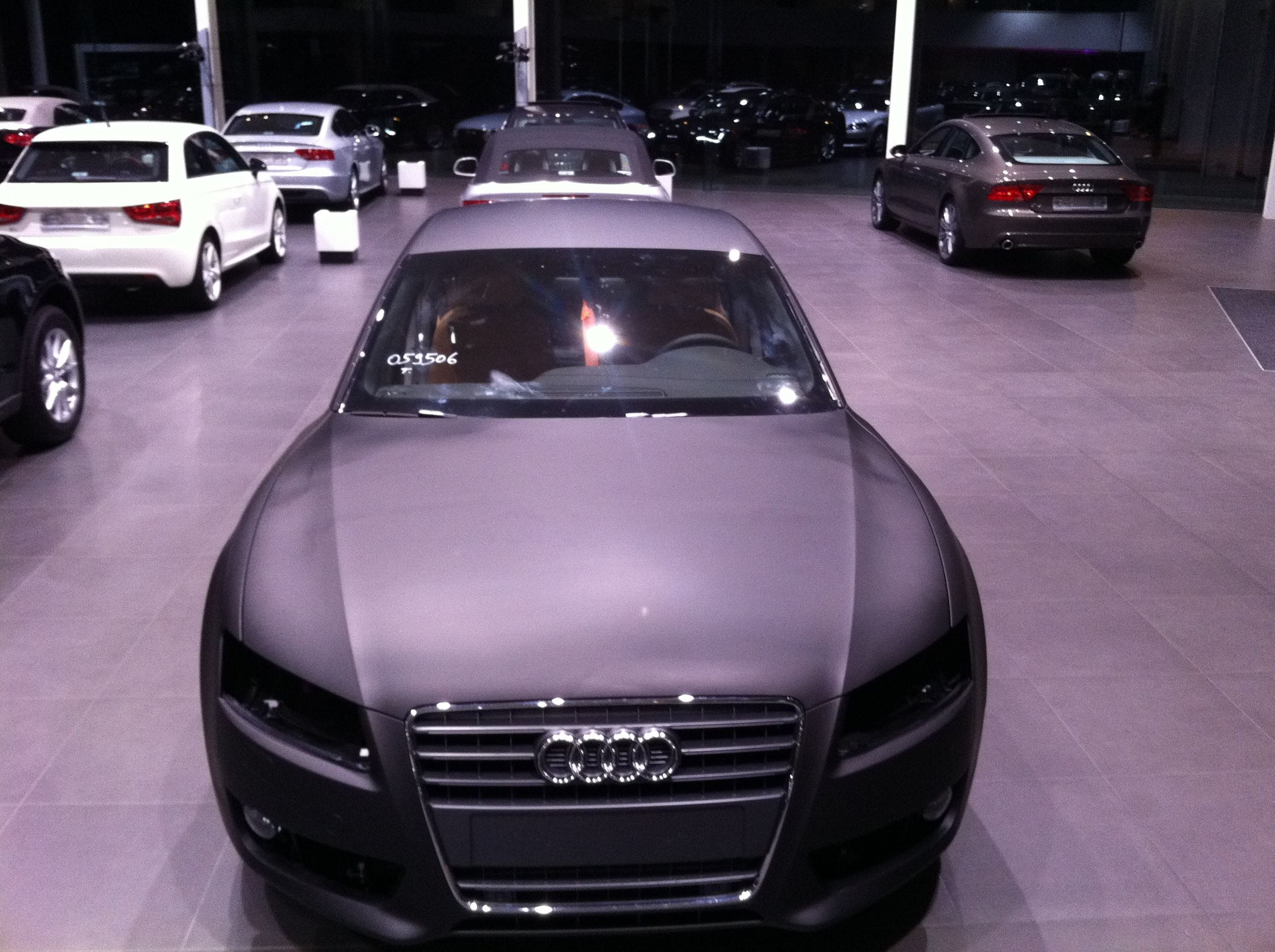Audi A5 Sportback met Mat Grijze Wrap, Carwrapping door Wrapmyride.nu Foto-nr:4796, ©2021