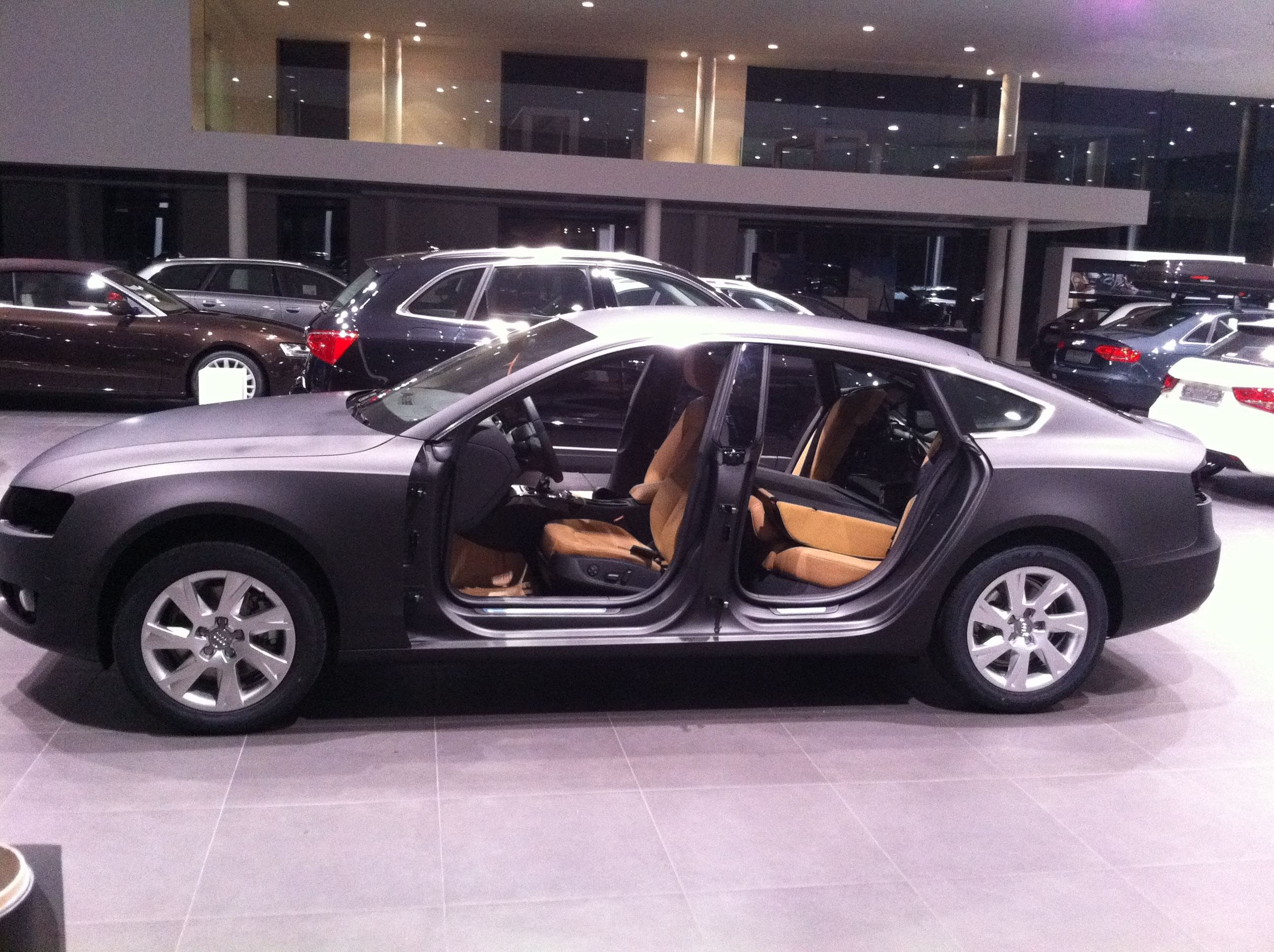 Audi A5 Sportback met Mat Grijze Wrap, Carwrapping door Wrapmyride.nu Foto-nr:4800, ©2021