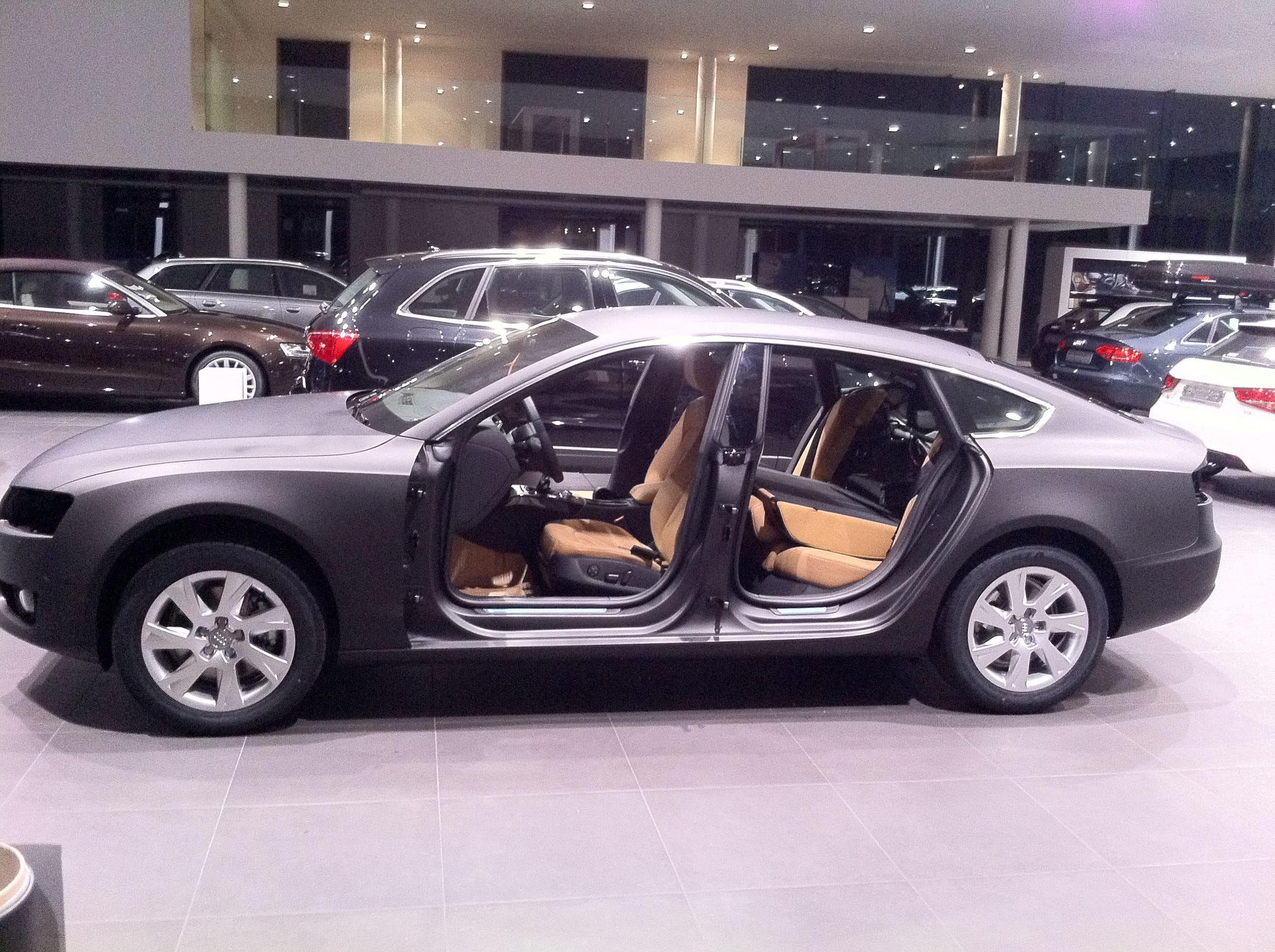 Audi A5 Sportback met Mat Grijze Wrap, Carwrapping door Wrapmyride.nu Foto-nr:4801, ©2021
