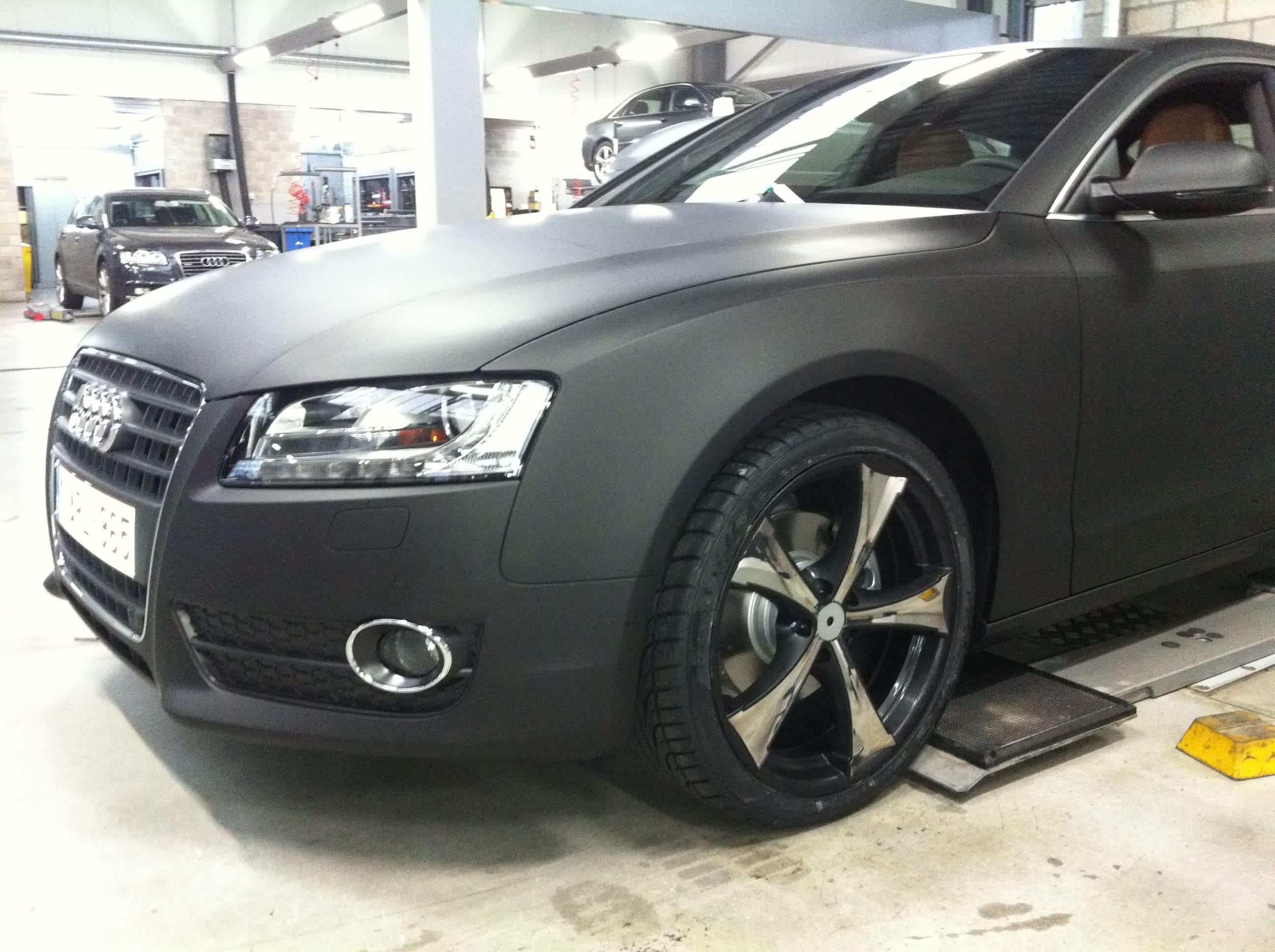 Audi A5 Sportback met Mat Grijze Wrap, Carwrapping door Wrapmyride.nu Foto-nr:4802, ©2021