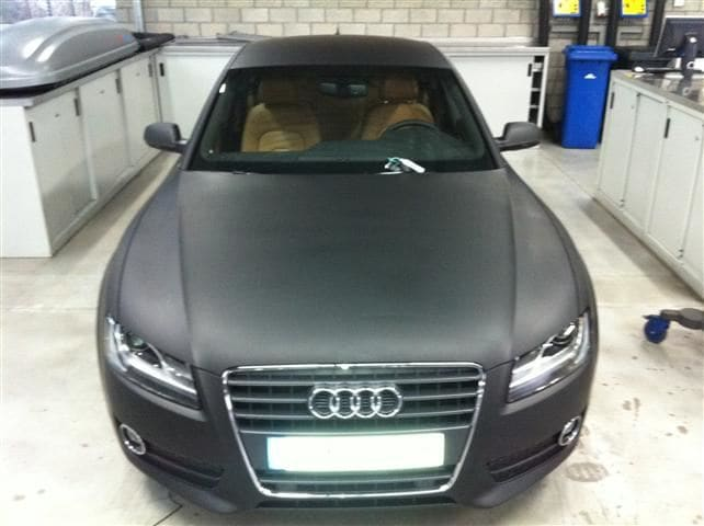 Audi A5 Sportback met Mat Grijze Wrap, Carwrapping door Wrapmyride.nu Foto-nr:4804, ©2021