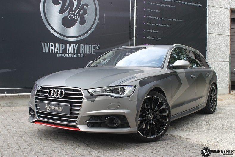 Audi A6 Jon Olson Camo wrap, Carwrapping door Wrapmyride.nu Foto-nr:11776, ©2019