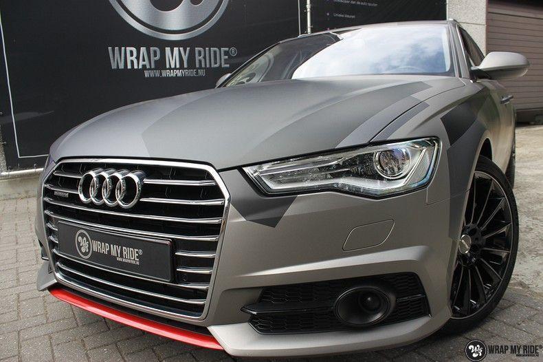 Audi A6 Jon Olson Camo wrap, Carwrapping door Wrapmyride.nu Foto-nr:11775, ©2019