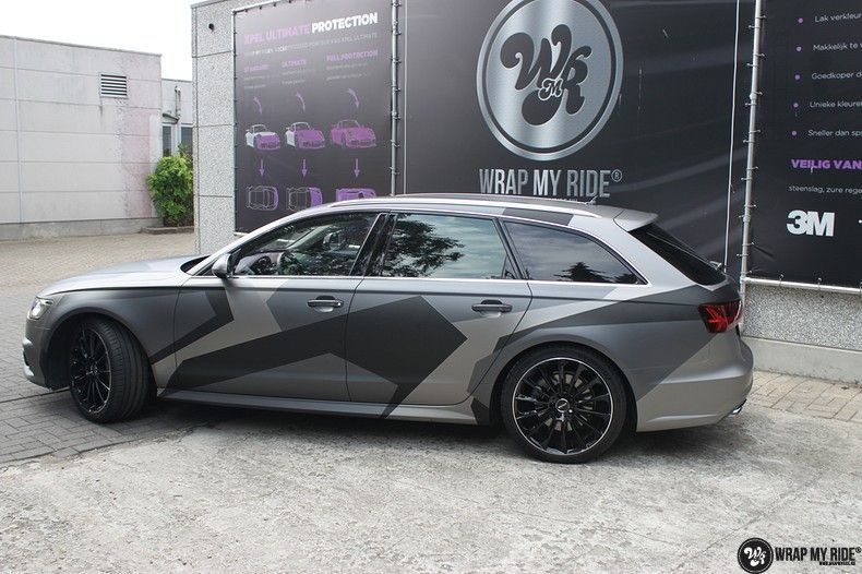 Audi A6 Jon Olson Camo wrap, Carwrapping door Wrapmyride.nu Foto-nr:11774, ©2019