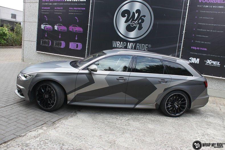 Audi A6 Jon Olson Camo wrap, Carwrapping door Wrapmyride.nu Foto-nr:11773, ©2019