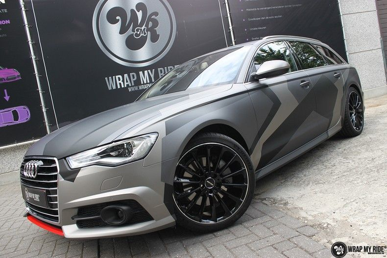 Audi A6 Jon Olson Camo wrap, Carwrapping door Wrapmyride.nu Foto-nr:11772, ©2019