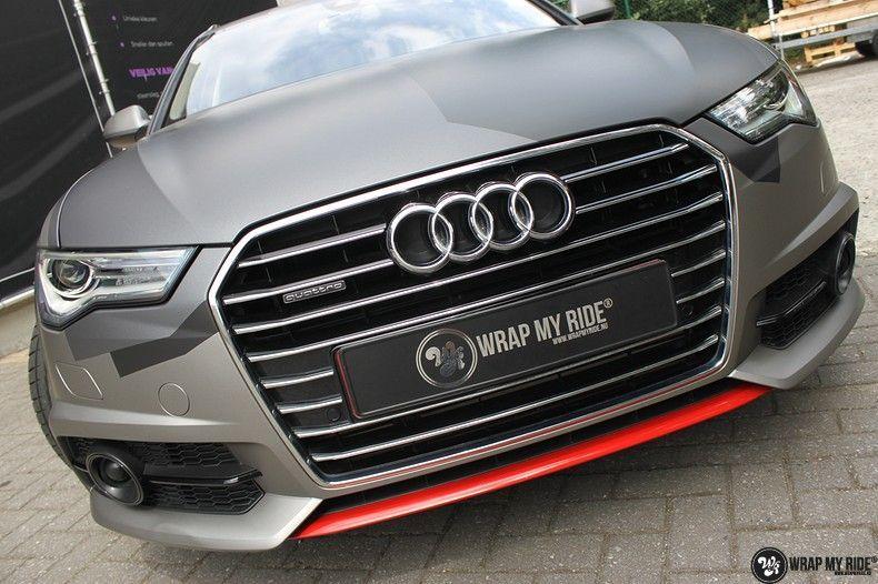 Audi A6 Jon Olson Camo wrap, Carwrapping door Wrapmyride.nu Foto-nr:11767, ©2019