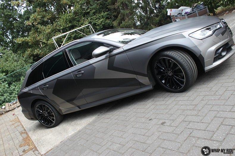 Audi A6 Jon Olson Camo wrap, Carwrapping door Wrapmyride.nu Foto-nr:11765, ©2019