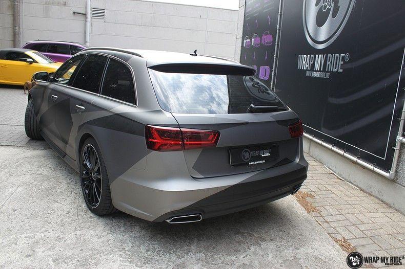 Audi A6 Jon Olson Camo wrap, Carwrapping door Wrapmyride.nu Foto-nr:11763, ©2019
