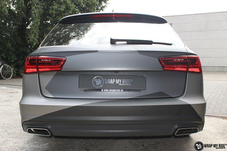 Audi A6 Jon Olson Camo wrap, Carwrapping door Wrapmyride.nu Foto-nr:11762, ©2019