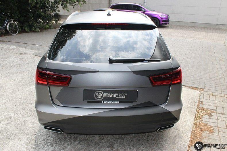 Audi A6 Jon Olson Camo wrap, Carwrapping door Wrapmyride.nu Foto-nr:11761, ©2019