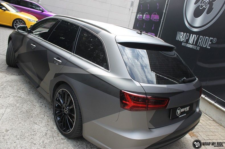 Audi A6 Jon Olson Camo wrap, Carwrapping door Wrapmyride.nu Foto-nr:11760, ©2019