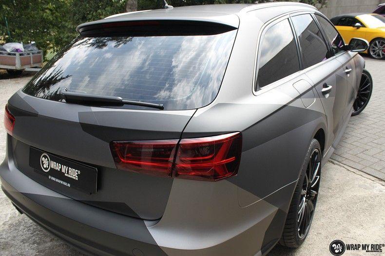 Audi A6 Jon Olson Camo wrap, Carwrapping door Wrapmyride.nu Foto-nr:11759, ©2019