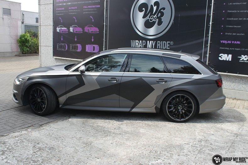 Audi A6 Jon Olson Camo wrap, Carwrapping door Wrapmyride.nu Foto-nr:11758, ©2019