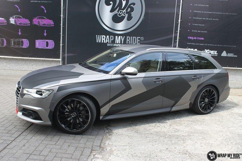 Audi A6 Jon Olson Camo wrap, Carwrapping door Wrapmyride.nu Foto-nr:11757, ©2019