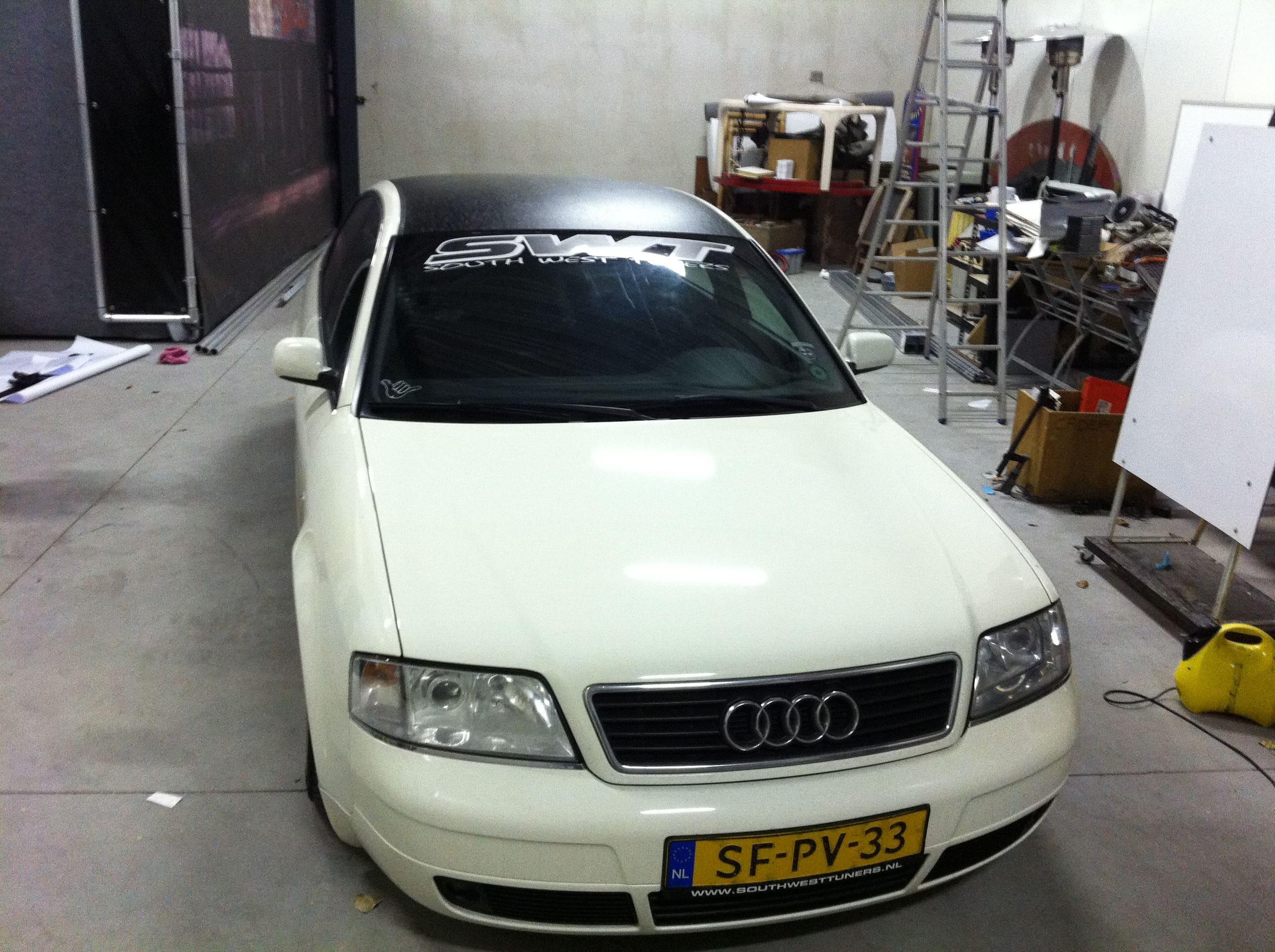 Audi A6 met zwart lederen dak, Carwrapping door Wrapmyride.nu Foto-nr:7477, ©2021