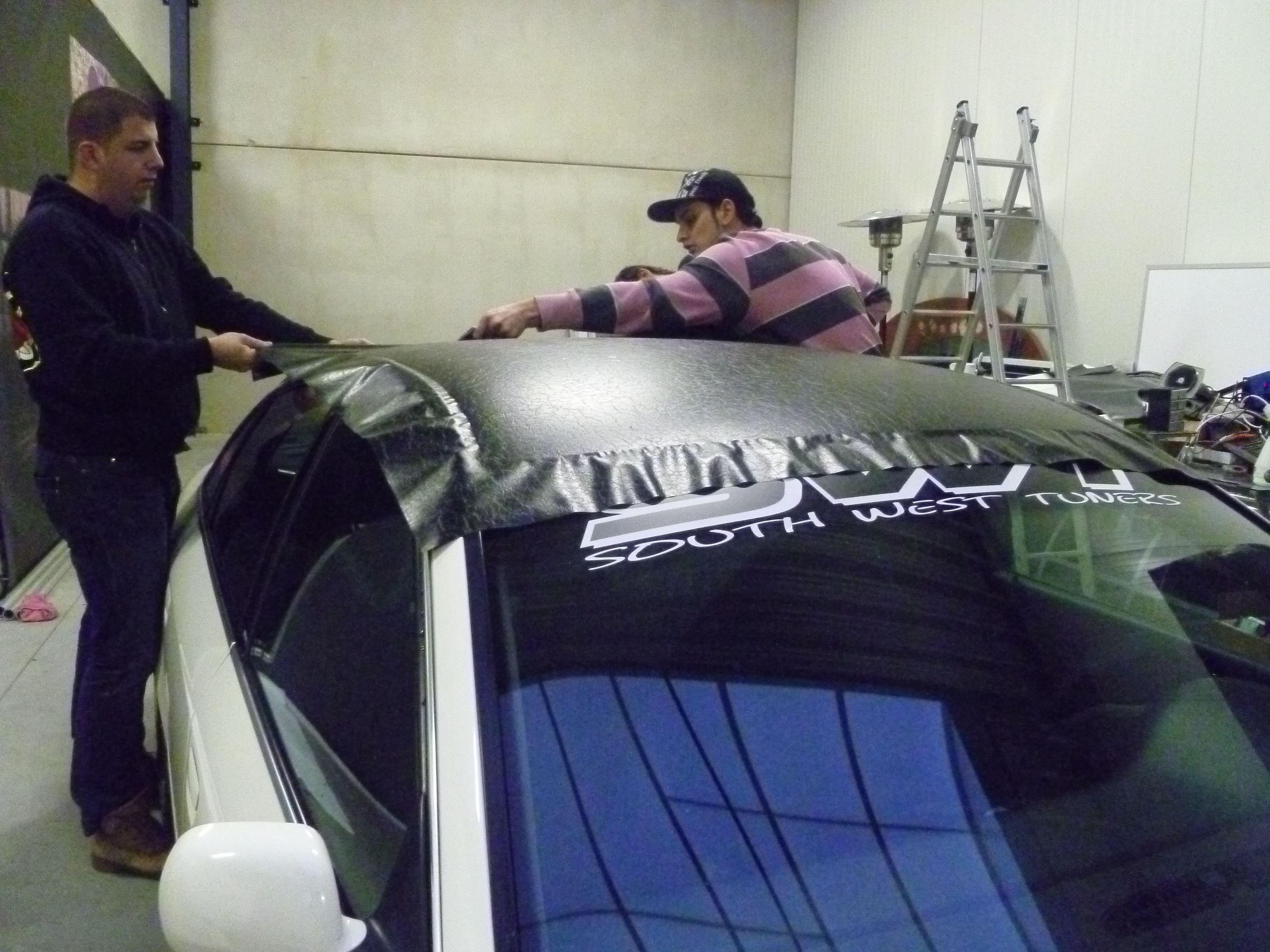 Audi A6 met zwart lederen dak, Carwrapping door Wrapmyride.nu Foto-nr:7479, ©2021