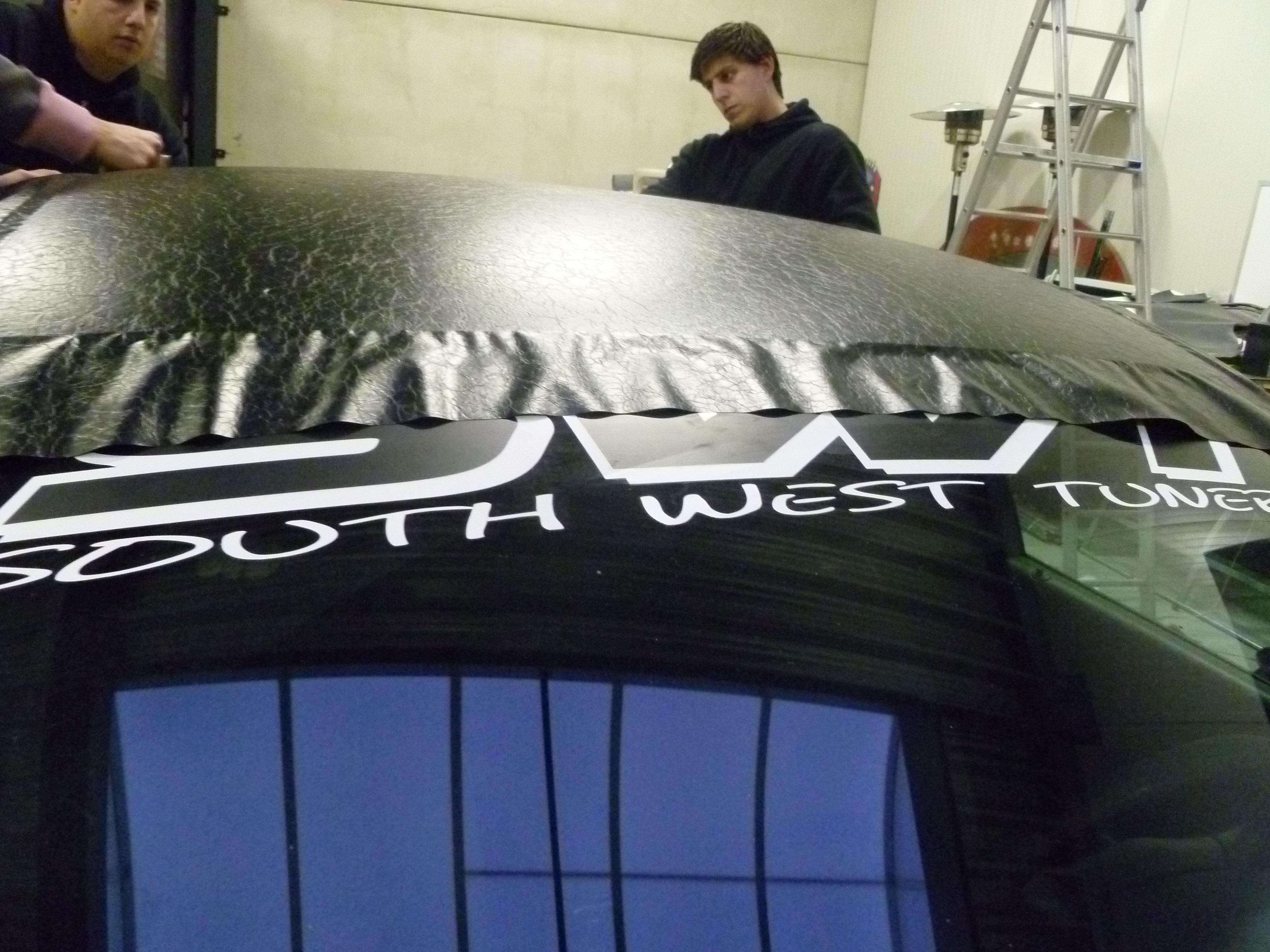 Audi A6 met zwart lederen dak, Carwrapping door Wrapmyride.nu Foto-nr:7482, ©2021