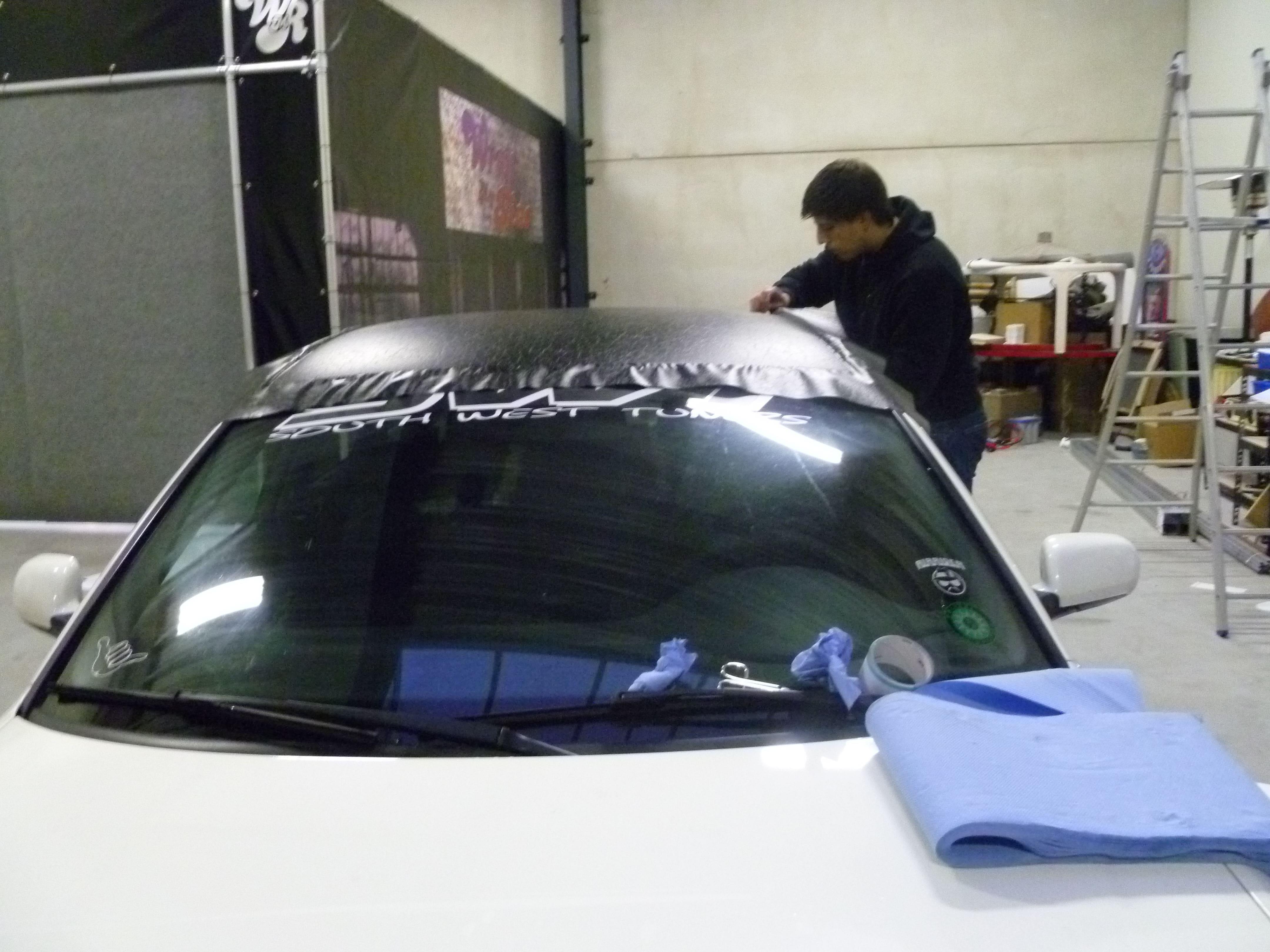 Audi A6 met zwart lederen dak, Carwrapping door Wrapmyride.nu Foto-nr:7486, ©2021