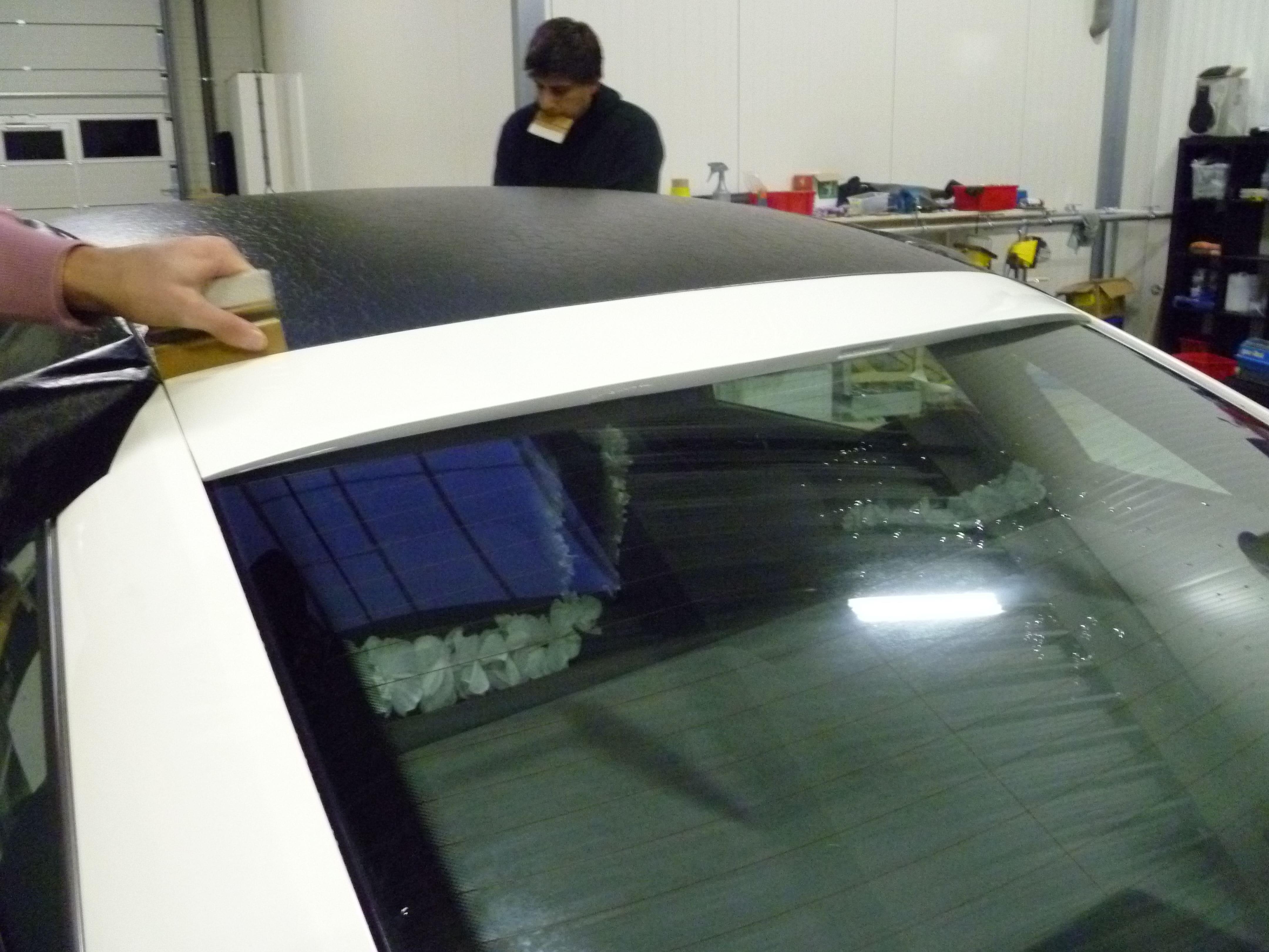 Audi A6 met zwart lederen dak, Carwrapping door Wrapmyride.nu Foto-nr:7487, ©2021