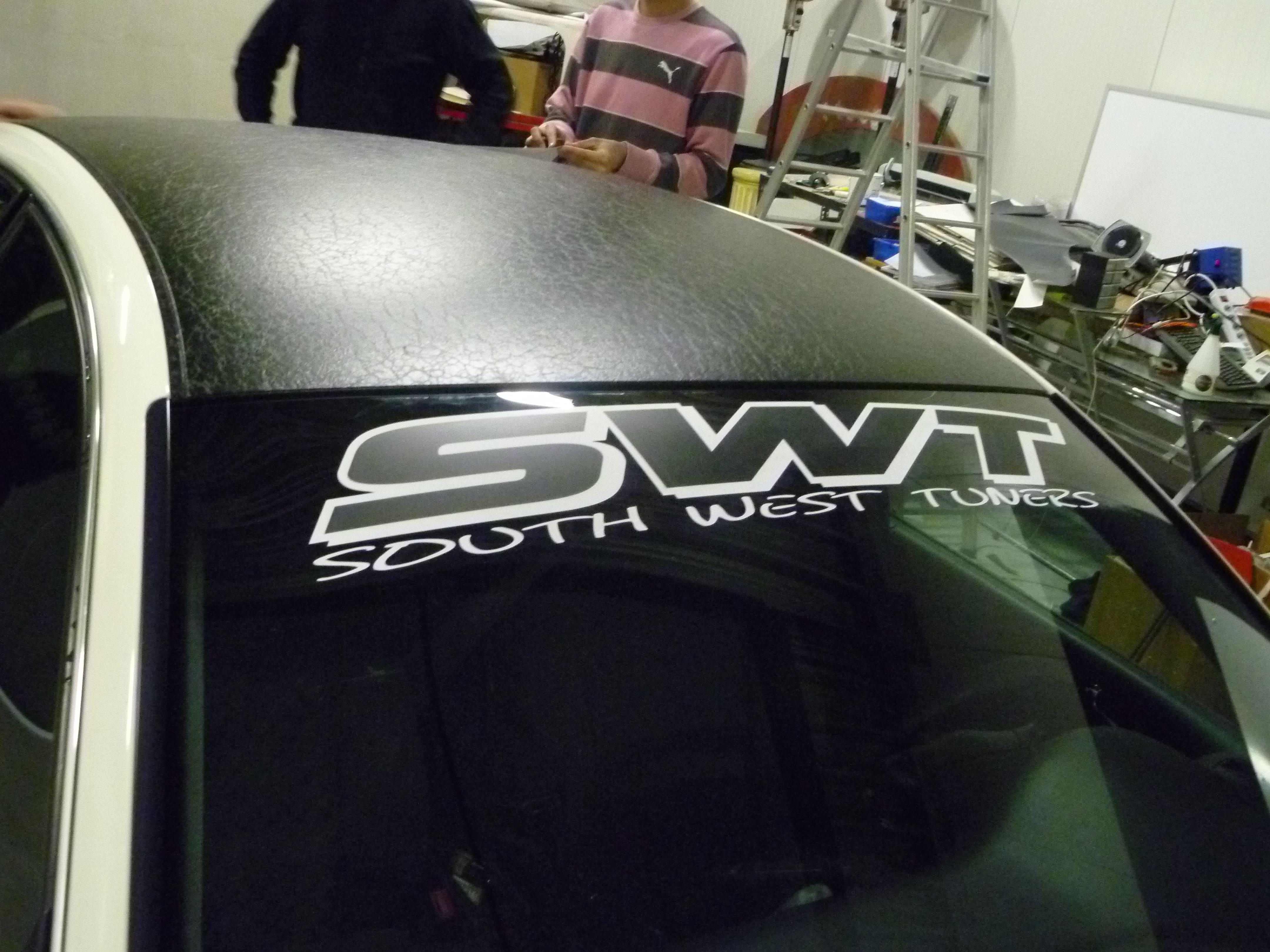 Audi A6 met zwart lederen dak, Carwrapping door Wrapmyride.nu Foto-nr:7489, ©2021