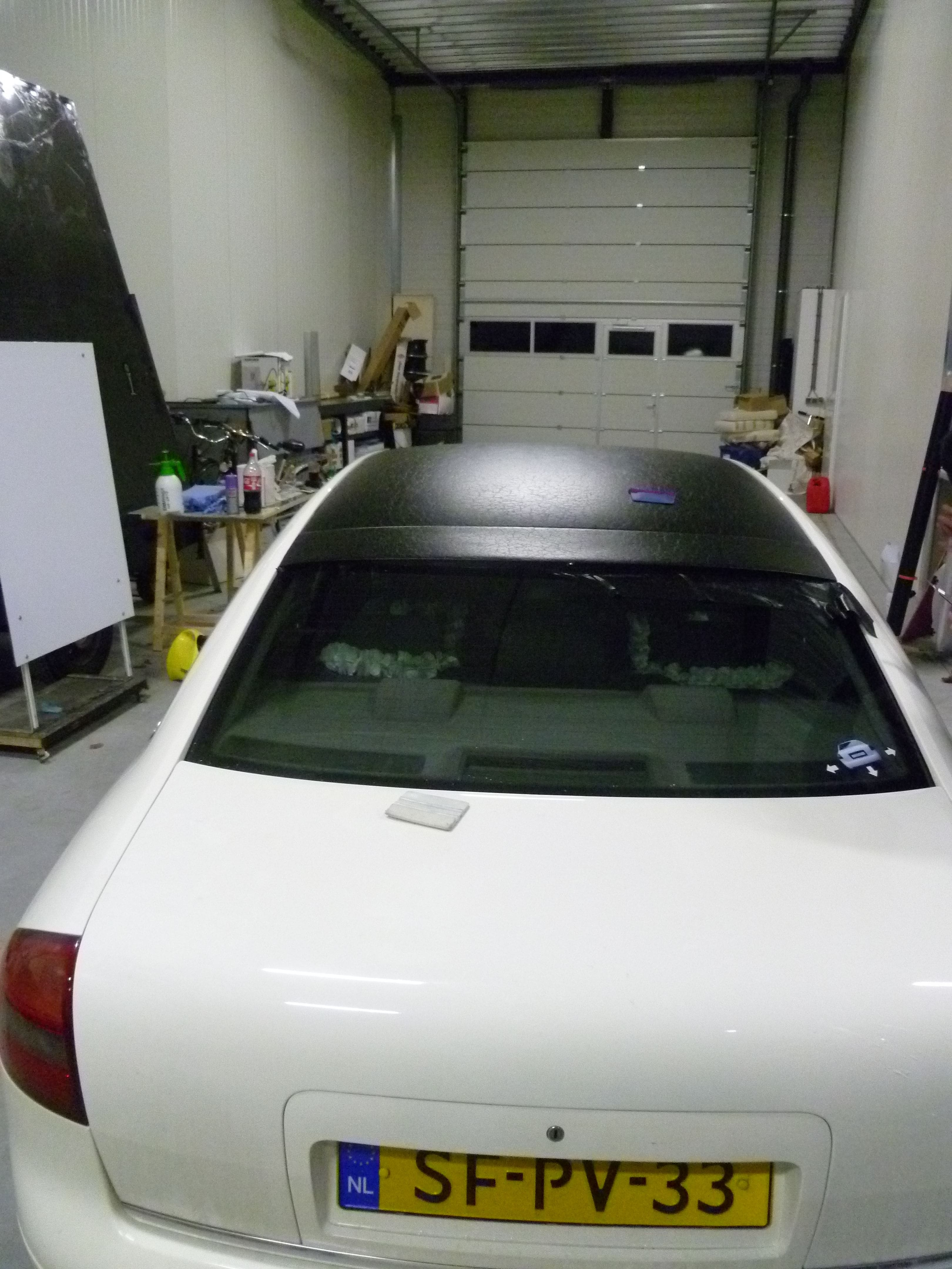 Audi A6 met zwart lederen dak, Carwrapping door Wrapmyride.nu Foto-nr:7498, ©2021