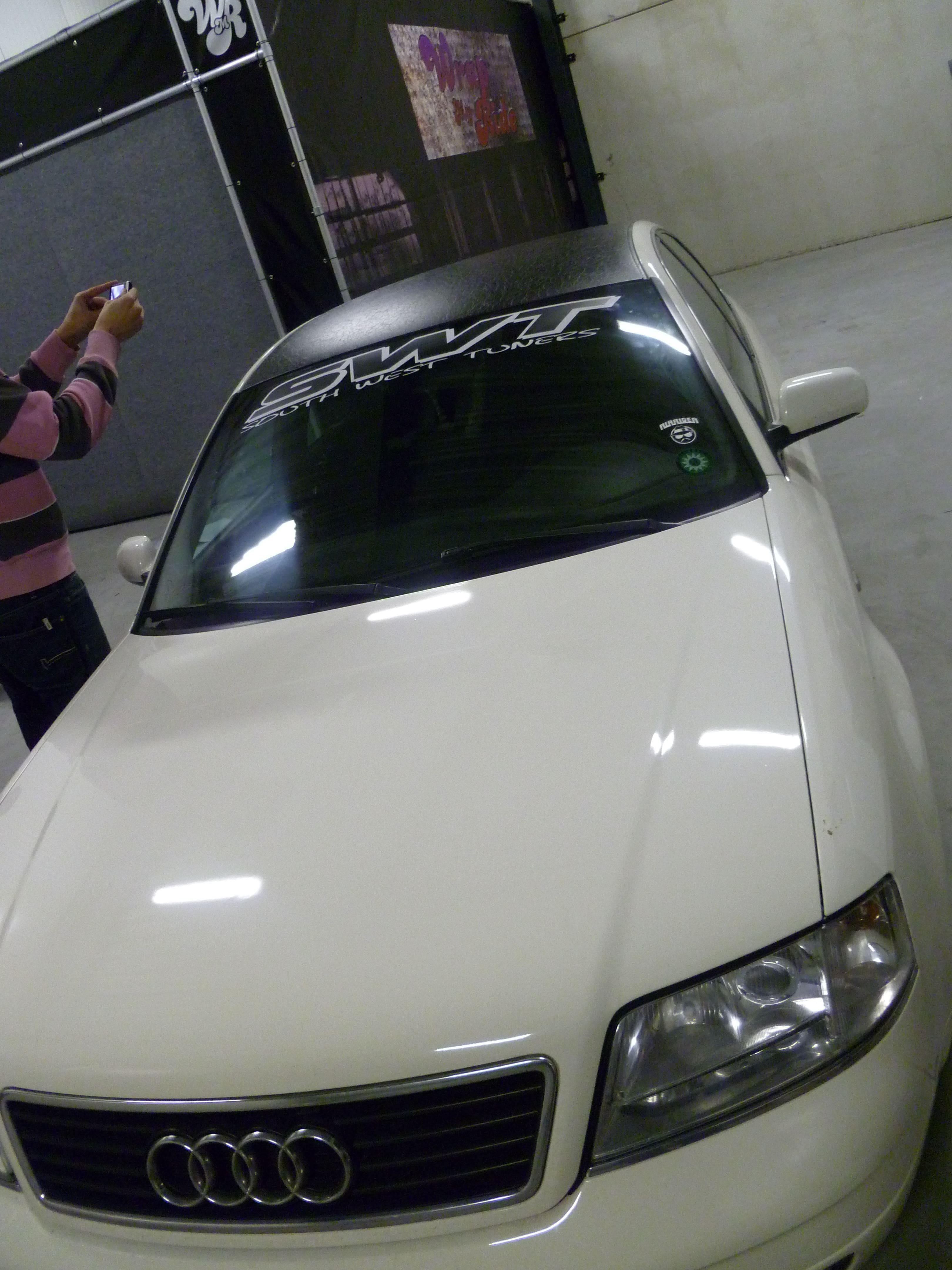 Audi A6 met zwart lederen dak, Carwrapping door Wrapmyride.nu Foto-nr:7504, ©2021
