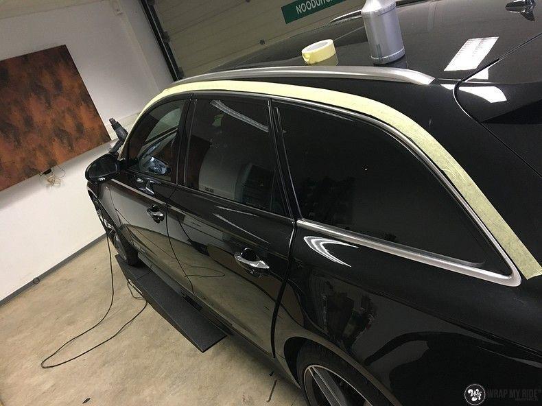 Audi A6 ontchromen, Carwrapping door Wrapmyride.nu Foto-nr:11330, ©2020