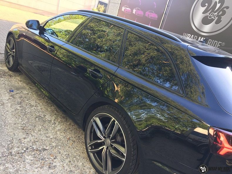 Audi A6 ontchromen, Carwrapping door Wrapmyride.nu Foto-nr:11325, ©2020