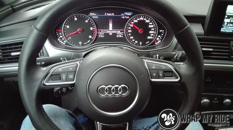 Audi A6 Station mat zwart, Carwrapping door Wrapmyride.nu Foto-nr:8173, ©2021