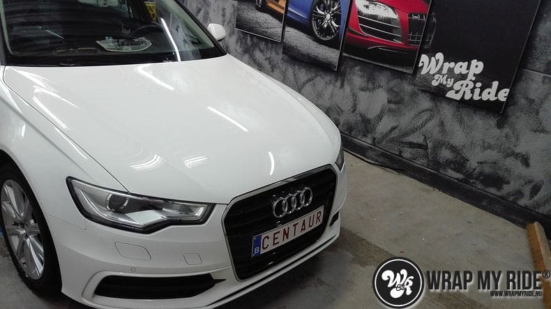 Audi A6 Station mat zwart, Carwrapping door Wrapmyride.nu Foto-nr:8175, ©2021