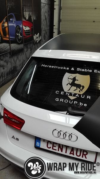 Audi A6 Station mat zwart, Carwrapping door Wrapmyride.nu Foto-nr:8177, ©2020